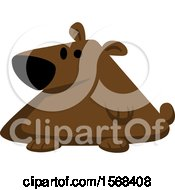 Clipart Of A Cute Fat Bear Royalty Free Vector Illustration by yayayoyo