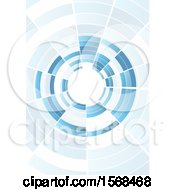 Clipart Of A Blue Wormhole Background Royalty Free Vector Illustration