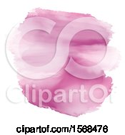Pink Watercolor Design On A White Background