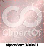 Clipart Of A Pink Metallic Crackle Background Royalty Free Vector Illustration