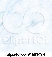 Clipart Of A Blue Marble Background Royalty Free Vector Illustration