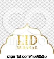 Clipart Of An Eid Mubarak Design Royalty Free Vector Illustration