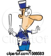 Cartoon Male Gendarme Officer