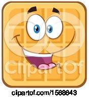 Cartoon Waffle Mascot Character