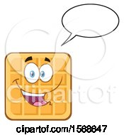Cartoon Waffle Mascot Character Talking