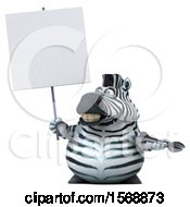 Clipart Of A 3d Zebra Holding A Wrench On A White Background Royalty Free Illustration by Julos