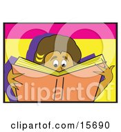 Boy Or Girl Reading A Really Good Book Clipart Illustration by Andy Nortnik