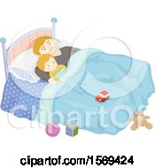 Poster, Art Print Of Baby Boy Sleeping With His Father