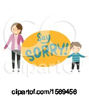 Mother Teaching Her Son To Say Sorry
