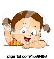 Poster, Art Print Of Toddler Girl With Her Hair In Pig Tails
