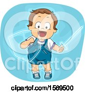 Poster, Art Print Of Toddler Boy Knight With An Imaginary Sword And Shield