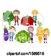 Boys And Girls With Produce Characters