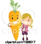 Girl With A Carrot Character