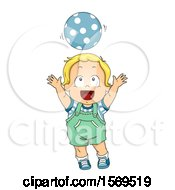 Poster, Art Print Of Toddler Boy Playing With A Ball