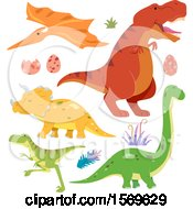 Poster, Art Print Of Dinosaurs And Eggs