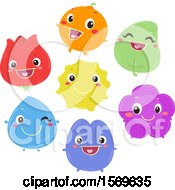 Clipart Of A Happy Color Characters Royalty Free Vector Illustration