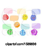 Clipart Of Colorful Characters With Speech Balloons Royalty Free Vector Illustration