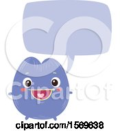 Clipart Of A Violot Character Talking Royalty Free Vector Illustration