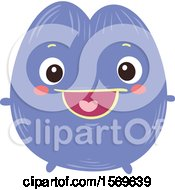 Clipart Of A Happy Violet Character Royalty Free Vector Illustration