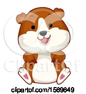 Clipart Of A Cute Sitting Hamster Royalty Free Vector Illustration