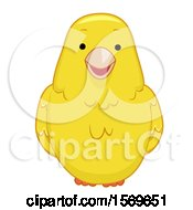 Clipart Of A Cute Canary Bird Royalty Free Vector Illustration