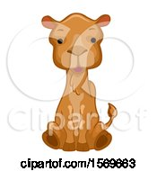 Clipart Of A Cute Sitting Camel Royalty Free Vector Illustration