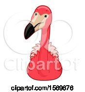 Clipart Of A Cute Pink Flamingo Royalty Free Vector Illustration by BNP Design Studio