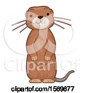 Clipart Of A Cute Gopher Royalty Free Vector Illustration