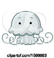 Clipart Of A Cute Jellyfish Royalty Free Vector Illustration