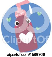 Clipart Of A Sex Lubricant Character Royalty Free Vector Illustration