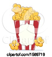 Clipart Of A Popcorn Mascot Character Royalty Free Vector Illustration by BNP Design Studio