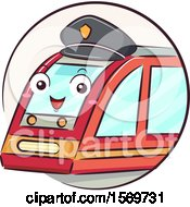 Clipart Of A Train Driver Mascot Wearing A Hat Royalty Free Vector Illustration