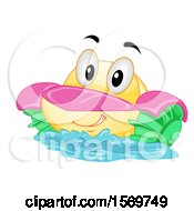 Clipart Of A Paddle Boat Mascot Character Royalty Free Vector Illustration