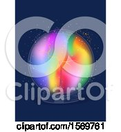 Poster, Art Print Of Colorful Electric Sphere Or Crystal Ball