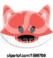 Clipart Of A Cute Fox Face Royalty Free Vector Illustration