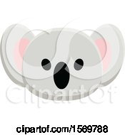 Clipart Of A Cute Koala Face Royalty Free Vector Illustration