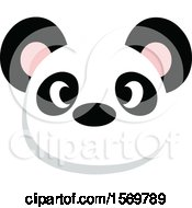 Clipart Of A Cute Panda Face Royalty Free Vector Illustration
