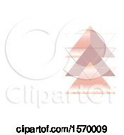 Clipart Of A Geometric Design With Triangles And Text Space Royalty Free Vector Illustration