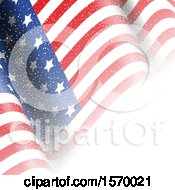 Clipart Of A Rippling American Flag Royalty Free Vector Illustration