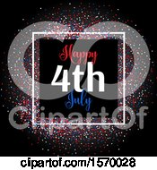 Clipart Of A Happy July 4th Design For Independence Day Royalty Free Vector Illustration