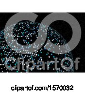 Clipart Of A Sphere With Dots Royalty Free Vector Illustration