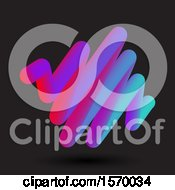 Clipart Of A 3d Abstract Scribble On Black Royalty Free Vector Illustration