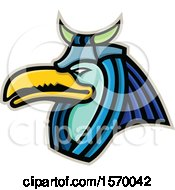 Clipart Of An Ancient Egyptian Mascot Of Thoth Royalty Free Vector Illustration