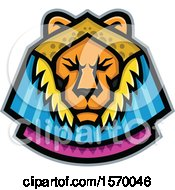 Clipart Of An Ancient Egyptian Mascot Of Sekhmet A Warrior Goddess Of A Lion Royalty Free Vector Illustration