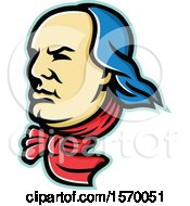 Clipart Of A Mascot Of Benjamin Franklin Royalty Free Vector Illustration
