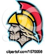 Clipart Of A Mascot Of Achilles In Profile Royalty Free Vector Illustration