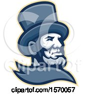 Clipart Of A Mascot Of Abraham Lincoln In A Top Hat Royalty Free Vector Illustration