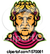 Clipart Of A Mascot Of Julius Caesar Royalty Free Vector Illustration