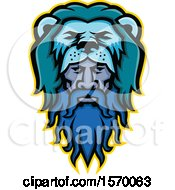 Clipart Of A Mascot Of Hercules Wearing A Lion Pelt Royalty Free Vector Illustration