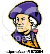 Clipart Of A Mascot Of George Washington Looking Over His Shoulder Royalty Free Vector Illustration by patrimonio
